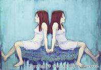 双子の姉妹イラスト