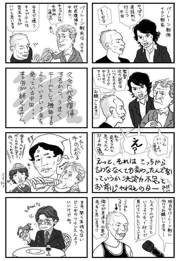 サッカー4コマ漫画制作